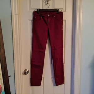 Kut from the Kloth Skinny Dark Red Jeans - Sz 4